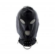 Máscara De Servidumbre De Cuero Tocados Vendaron Los Ojos Juguete Divertido Coquetear Venda Máscara