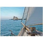 Fototapet peisaje cu ambarcatiuni pe mare