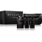 Bvlgari Man In Black lote de regalo VIII. eau de parfum 100 ml + bálsamo after shave 75 ml + gel de ducha 75 ml + bolsa para cosméticos