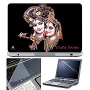 FineArts Laptop Skin 15.6 Inch With Key Guard & Screen Protector - Radha Krishna