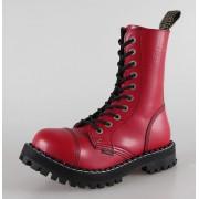 bottes en cuir pour femmes - STEEL - (105/106 Full Red)