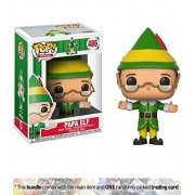 Papa Elf: Funko POP! Movies x Elf Vinyl Figure + 1 Classic Movie Trading Card Bundle (21381)