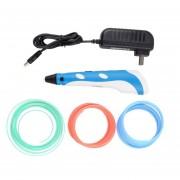 ER Caliente Pluma Impresión 3D Estereoscópica Modelado Elaboración+3 ABS Filamento Enchufe UK -Blue