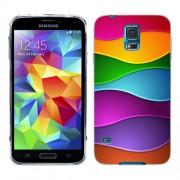 Husa Samsung Galaxy S5 Mini G800F Silicon Gel Tpu Model Rainbow Abstract