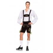 Leg Avenue Oktoberfest Lederhosen Costume Brown/Green 85476