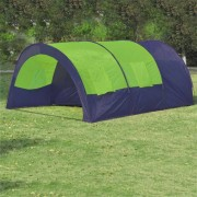 vidaXL Tenda de campismo 6 pessoas tecido azul e verde