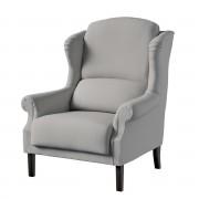 Dekoria Fotel Unique, szary szenil, 85 × 107 cm, Chenille