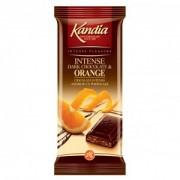Kandia Ciocolata Intensa Amaruie cu Portocale 80g