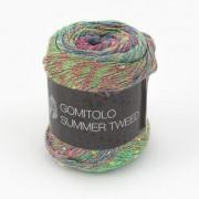 Lana Grossa Gomitolo Summer Tweed von Lana Grossa, Petrol/Gelb/Rot/Türkis/Hellgrün