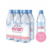 Evian 0.5 L x 6 Pack - PET