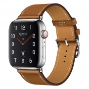 Genuine Leather Watch Band for Apple Watch Series 4 44mm / Series 3 2 1 42mm - Brown