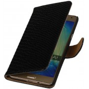 Samsung Galaxy A7 2015 A700F Hoesje Slang Bookstyle Zwart