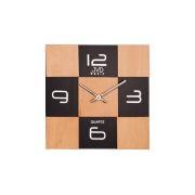 Orologio da parete in legno e vetro