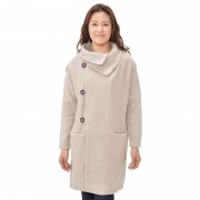 KAWAIの暖かニットコート【QVC】40代・50代レディースファッション