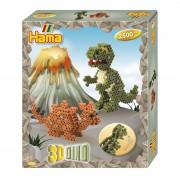 Hama Strijkkralen Gift Box 3D Dino 2500 Delig