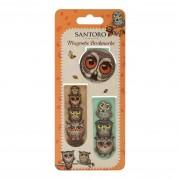 3 magnetische boekenleggers santoro - uilen