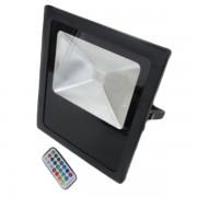 RGB színes LED reflektor 30 Watt távirányítóval