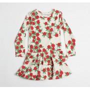Mini Rodini rose ls frill dress