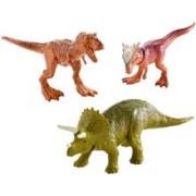Set Figurine Jurassic World Triceratops Sygimoloch & Metallic T-Rex