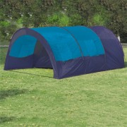 vidaXL Camping Tent Fabric 6 Persons Dark Blue and Blue