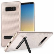 Samsung Galaxy Note 8 Ultra Thin Slim Carbon TPU Case With Stand - Rose Gold