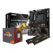 Combo Actualizacion Amd Ryzen 5 2400g + A320 + 8gb 2400