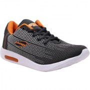 LOOK & HOOK FHONEX SPORT 1 GRAY ORANGE LACE UP RUNNING SHOES