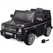 vidaXL 2 motoros Mercedes Benz G65 SUV elektromos kisautó fekete