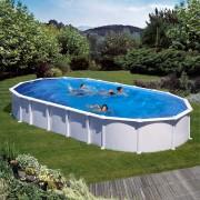 Сглобяем басейн Gre с метална стена 730 x 375 x 132 см, овал