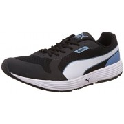 Puma Men's Future Runner II DP Black, Blue and Heaven White Sneakers - 11 UK/India (46 EU)