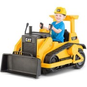 Kid Trax CAT Bulldozer 12-Volt Battery-Powered Ride-On, Requires one 12V rechargeable battery (battery and wall charger included)