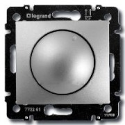 Светорегулятор поворотный 400Вт Legrand Valena алюминий