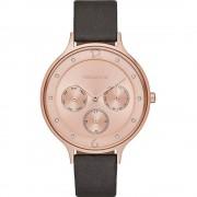 Skagen Skw2392 Anita rosa oro y gris cuero multifuncional reloj