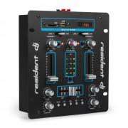 Resident DJ DJ-25 DJ-Mixer mesa de mezclas amplificador Bluetooth USB negro/azul (DJMM2-DJ-25 BL)