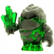 LEGO Power Miner Minifig Rock Monsster Boulderax Trans-Green