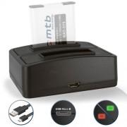 Double Chargeur (USB) pour DMW-BCM13 / Panasonic Lumix DMC-FT5, LZ40, TS5, TS6 / DMC-TZ37, TZ40, TZ41, TZ55, TZ56, TZ58, TZ60, TZ61, TZ70, TZ71 / DMC-ZS30, ZS35, ZS40, ZS45, ZS50, ZS60, ZS100