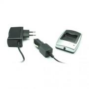 Chargeur batterie (secteur & voiture) pour Canon LP-E6 | Compatible avec Canon EOS 5D Mark II, Canon EOS 7D et autres