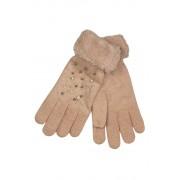 Gloves Lady dámské rukavice s kamínky světle růžová