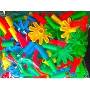 Building Blocks 3D Puzzle -- Children Plastic Toy Random Shapes Puzzle Block -- Color Recognition -- Matching Assembly -- Quiz Mind Stimulation (Design 4)
