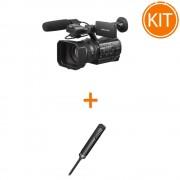 "Kit Video Profesional Sony cu Camera Video HXR-NX200 4K Senzor 1"" XAVC S + Microfon Electret Condenser Stereo ECM-MS2"