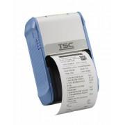 Imprimanta mobila de etichete TSC Alpha-2R, 203DPI, Wi-Fi, USB, alb/albastra