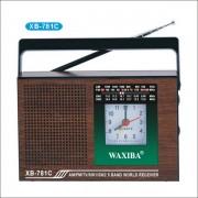 Radio portabil cu ceas Waxiba XB781C, AM, FM, TV
