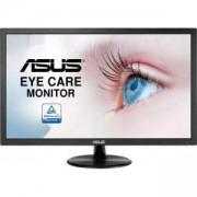 Монитор ASUS VP228DE Eye Care 21.5 инча, Full HD, Flicker Free, Blue Light Filter, Anti Glare, 5ms, Черен, ASUS-MON-VP228DE