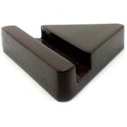 JaamsoRoyals Triangle design Wooden Mobile Phone Stand / Holder For Smartphone (Dark Brown)