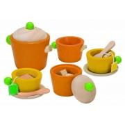 Set colorat pentru servit ceaiul