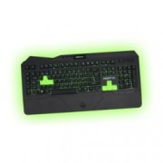 Клавиатура KEEPOUT F89PRO, гейминг, 12 клавиша за мултимедиен контрол, 5 програмируеми клавиша за макроси, подсветка, черна, USB