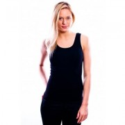 RJ Bodywear Ladies Shirt Black