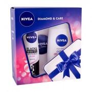 Nivea Care & Diamond confezione regalo doccia gel Care & Diamond 250 ml + anti-perspirante Invisible For Black & White Clear 150 ml + Nivea Creme 30 ml