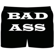 """boxershorts med trycket """"Bad ass"""" (XL)"""