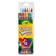 Set 12 Creioane Colorate Retractabile